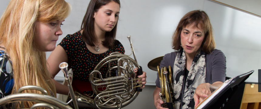 Meigs Professorship Teaching Awards|Jean Martin-Williams, professor of horn in the Hugh Hodgson School of Music in the Franklin College of Arts and Sciences and director of the Lilly Teaching Fellows program at UGA a