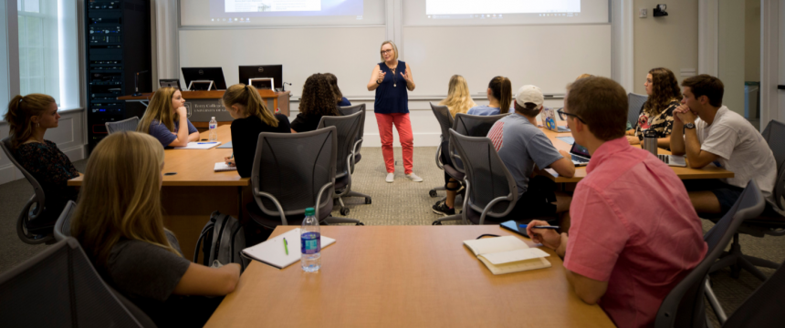 Professor Annette Poulsen faculty teaching profile in Amos Hall