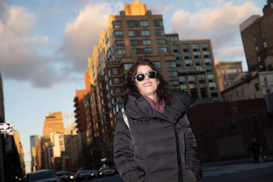 photo of woman in a city scape