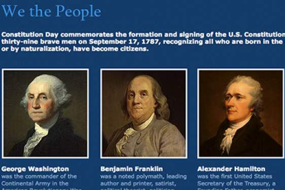 graphic with Franklin Washington and Hamilton