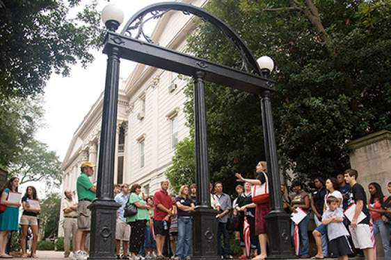 UGA Arch with people