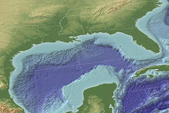 Gulf of Mexico 3D rendering