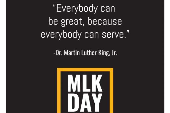 graphic on black for MLK