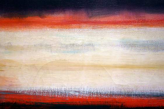 abstract painting, Rothko, white and red