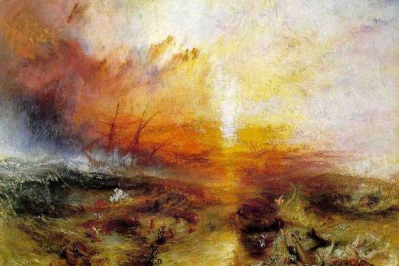oil painting by J.M.W. Turner, The Slave Ship, 1840