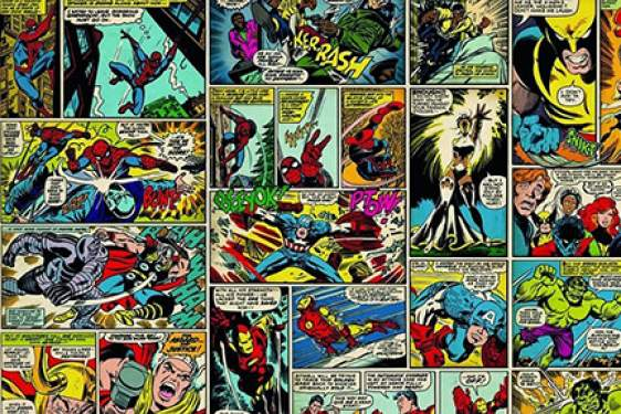 Marvel comics photo wall mural