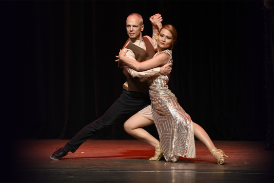 photo of couple in dance pose