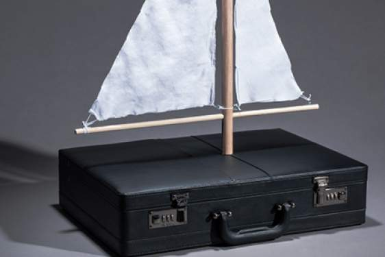 briefcase with a sail
