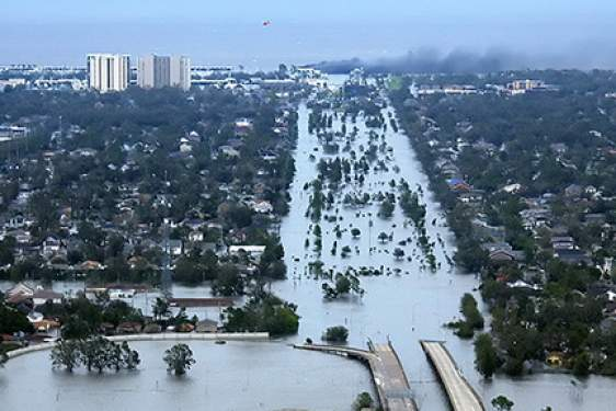 photo of flooded New Orleans